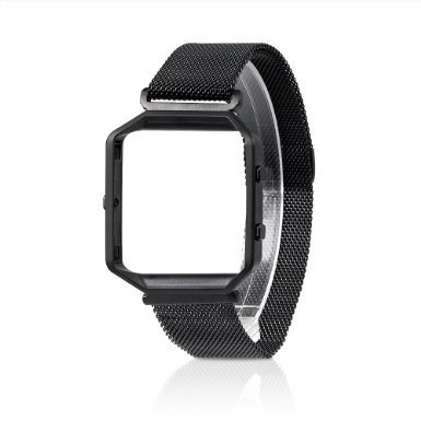 For Fitbit Blaze Band, Wearlizer Milanese Loop Watch Band Replacement With Metal Frame Stainless Steel Bracelet Strap for Fitbit Blaze Test