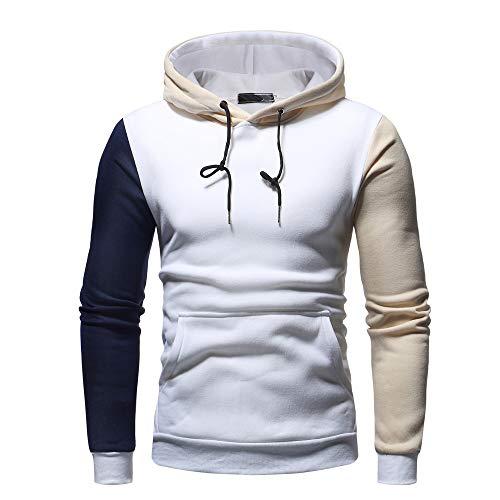 Qinsling felpa con cappuccio uomo inverno personalità incappucciata cucita maglione maniche lunghe distintivo hoodie sweatshirt camicetta dolcevita classico tops
