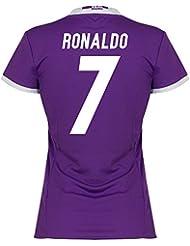 Real Madrid Away Mujeres camiseta 20162017+ Cristiano Ronaldo 7(Fan Style)