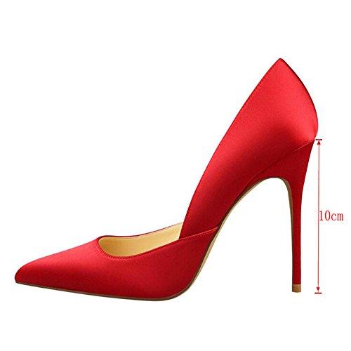 MERUMOTE , Escarpins pour femme Rouge