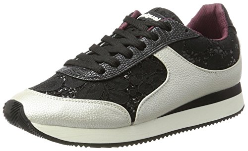 Desigual Shoes_Galaxy Black Lace, Scarpe da Ginnastica Basse Donna, Nero (Negro), 39 EU