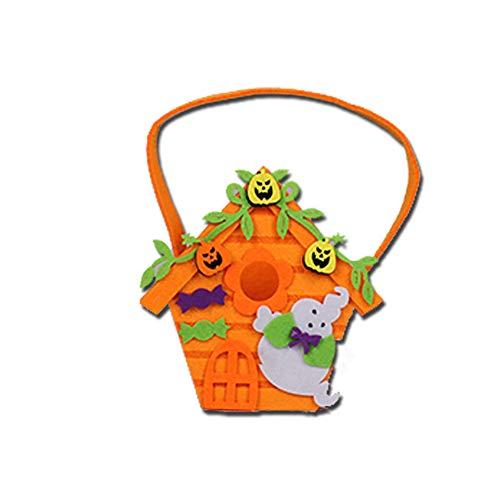 Xiton Halloween Süßes Oder Saures Taschen Traditionelle Halloween Süßigkeitstasche Ideal für Kinder (Orange) 1ST