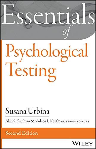 Essentials of Psychological Testing (Essentials of Behavioral Science) por Susana Urbina