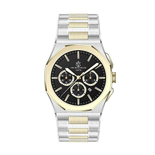 New York Incredibles Herren Analog Quarz mit Edelstahl Band NYI-110