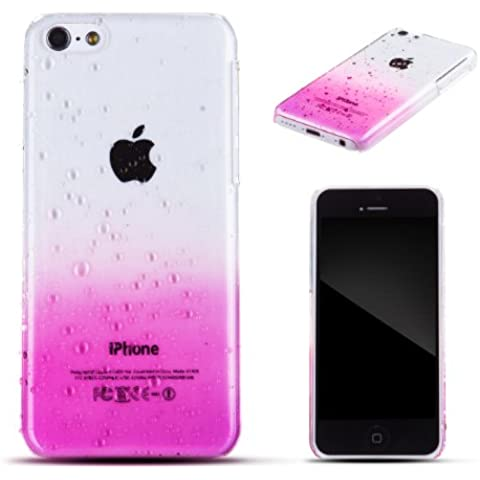 Zooky rosa plástico GOTA DE AGUA funda / carcasa / cover para Apple iPhone 5C