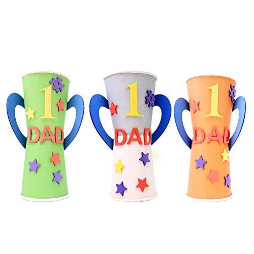 YeahiBaby 3pcs Dad Trophy Welt größte Dad Geschenk Handwerk Material liefert