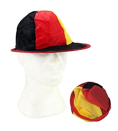 Unbekannt 6 x Deutschland Faltbare Mütze Kappe Cap Fußball Pop Up Hut WM Wurfmaterial Fasching Karneval Fastnacht für Kostüm Gruppe Verein