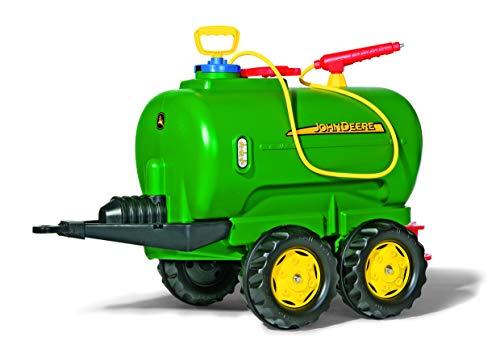 Trettraktor Anhänger Rolly Toys John Deere Tanker (rollyTanker Fassanhänger; voll funktionsfähig; Tankwagen inkl. Pumpe, Spritze, Auslaufhahn; Kinder ab 3 Jahre) 122752