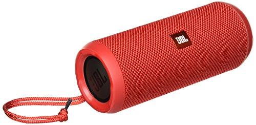 JBL Flip 3 Spritzwasserfester Tragbarer Bluetooth-Lautsprecher mit außerordentlich Kraftvollem Klang im Kompakten Design - Rot