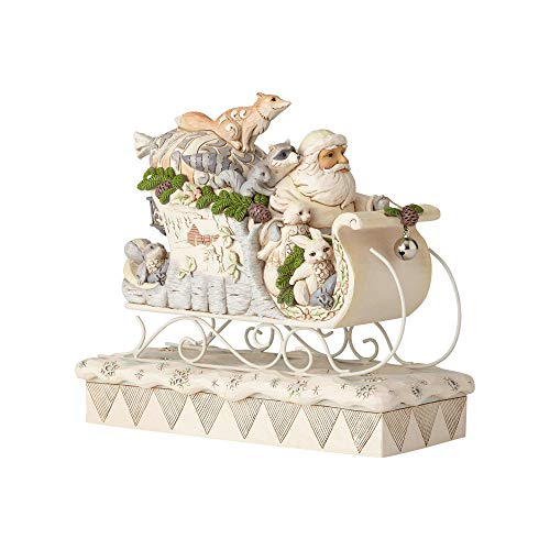 Heartwood Creek Woodland Santa In Sleigh Figurine -