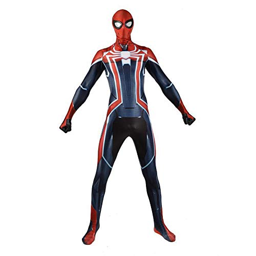 LANVERA Halloween 3D Digitaldruck Anime Kostüm Super Limited Battle Suit Spiderman Cosplay Strumpfhosen Cosplay Kostüm Kinder Erwachsene Kostüm Adult-M (Männliche Halloween-kostüme Einfach Super)
