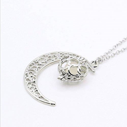 hen-Edelstein-Mond-Pfirsich-Herz-Halskette (Herzen Glühen)