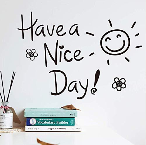 Qthxqa Haben Sie Einen Schönen Tag WandaufkleberDiy Zitate Wandtattoos Für Wohnzimmer Schlafzimmer Büro Klasse Raum Decoration30 * 45Cm