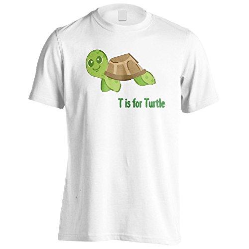 Nuova T Per La Tartaruga Divertente Uomo T-shirt l405m White
