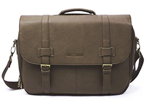 Sweetbriar Classic Laptop Messenger-Tasche-Aktentasche Entwickelt zu schützen Laptops bis 39,6cm, 2017 braun braun Einheitsgröße (Kenneth Cole Aktentasche Braun)