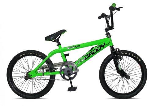 20' BMX Rooster Big Daddy Spoked 4 Farben Model 2012 4 x Stunt Pegs 360 Grad Rotor, Farbe:grün
