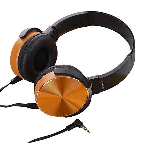 DJ Kopfhörern Ver-Ear Teens Mit MIC Faltbaren 3.5mm Wired Game Earphones(Gold)