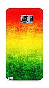 Amez designer printed 3d premium high quality back case cover for Samsung Galaxy Note 5 (Rasta grunge)