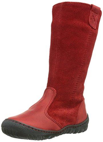 Pololo Linda, Bottes à tige haute et doublure intérieure fille Rouge - Rot (Pepper rot / 339)