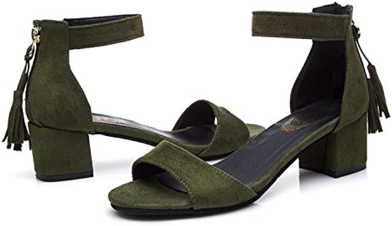 Donyyyy Sandalias, sandalias, sandalias, sandalias, sandalias, y sandalias,verde militar,38 -