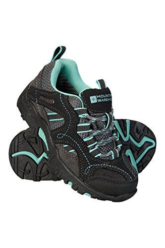 Mountain Warehouse Stampede Wanderschuhe für Kinder - Laufschuhe, wasserfeste Trekkingschuhe, Schuhe für Kinder aus Wildleder und Netzstoff - Für Jungen und Mädchen Mint 33 EU