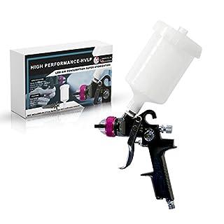 Paint Spray Gun - HVLP Pain Sprayer Gun - Professional Automotive Spray Gun Kit - Touch Up Painter Tools - Gravity Feed Paint Air Paint Sprayer for Cars, Home, and Shop. (1.4 mm LEHVLP)