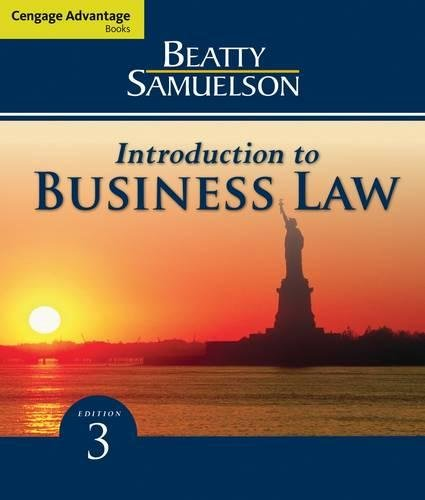 Introduction to Business Law (Cengage Advantage Books)