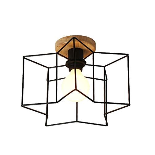 ZQH Modern Ron Art LED Deckenleuchten Retro Massivholz Deckenlampe, Pivotable Für Schlafzimmer Küche Treppenhaus Ganglichter Kreative Dekoration E27-110 V ~ 240 V, Ohne Lichtquelle,Gstars