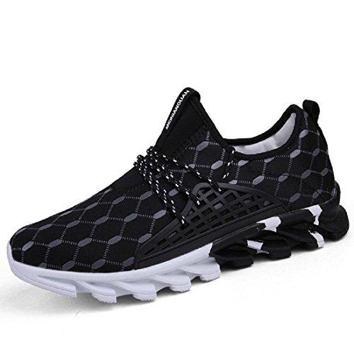 Hommes Chaussures de sport Respirant Antidérapant Entraînement Chaussures de course Formateurs Black