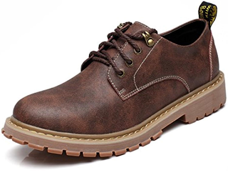 Otoño E Invierno Cuero Hombres Botas De Herramientas Alto Para Ayudar Zapatos Casuales Aumentado Dentro De Los  -
