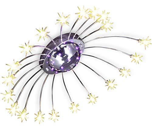 XL LED Sternenhimmel Farbwechsel Deckenleuchte Deckenlampe Lampe Lüster Kronleuchter Fernbedienbar Ø 81cm 30W warm-weiß