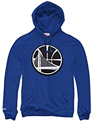 Mitchell & Ness Golden State Warriors B & W Logo NBA Sweat-shirt à capuche Bleu