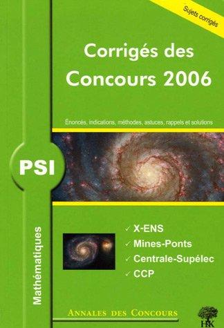 PSI Mathématiques : Corrigés des concours