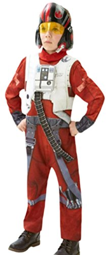Zauberclown - Jungen Star Wars X-Wing Fighter Karneval Faschingskostüm, 128, (Skywalker X Kostüm Luke Fighter Wing)