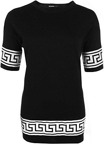 The Home of Fashion Damen T-Shirt, Aztekisch Schwarz