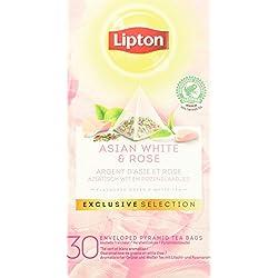 Lipton Asiatischer weißer Tee und rose Pyramid, 1er Pack (1 x 48 g)