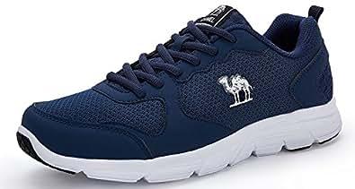 CAMEL Herren Sportschuhe Laufschuhe Sneaker Atmungsaktiv Leichte Traillaufschuhe (44 EU=UK 8.5=Fußlänge 27cm, Black)