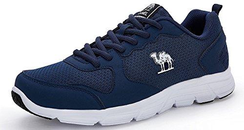 CAMEL Herren Sportschuhe Laufschuhe Sneaker Atmungsaktiv Leichte Traillaufschuhe (45 EU=UK 9=Fußlänge 27.5cm, Blue)