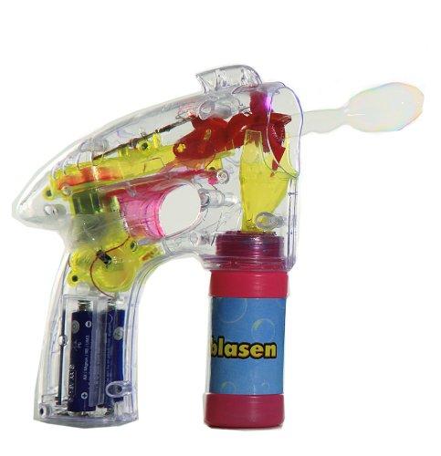 Seifenblasen-Pistole mit Licht Elektrisch Seifen Blasen leuchtend LED Flashlight