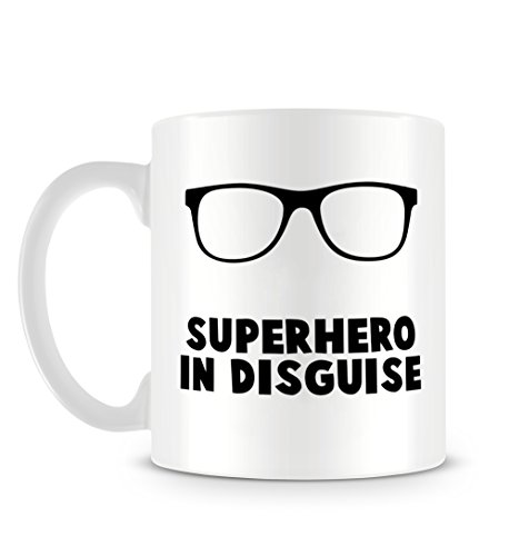Superhero in Disguise Funny Super Hero Design With Hipster GlassesTaza