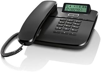 Gigaset DA610 Telefon, Schnurgebundes Telefon/Schnurtelefon, Display, Freisprechen, Stummschaltung, Mute, Analog Telefon, schwarz