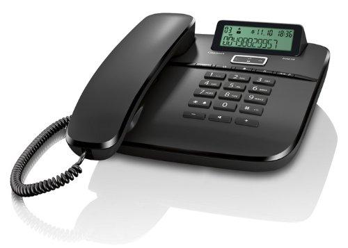 Gigaset DA610 - Schnurgebundenes Telefon - klassisches Schnurtelefon mit Direktruf und Freisprech Funktion - Hörgeräte kompatibel, schwarz