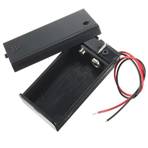 Yongse DIY 9V Batería de Almacenamiento Contenedor Caja Caja Soporte con ON/Off...