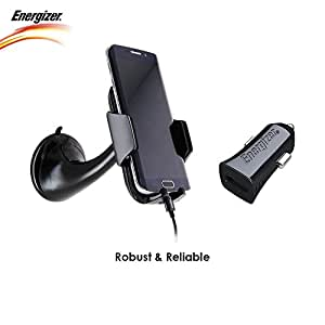 Energizer USB Universal Car Charger with USB Cable with Mobile Phone Holder
