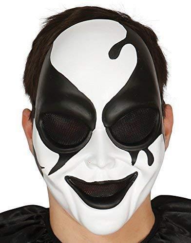 Fancy Me Herren Damen Schwarz Weiß Harlekin Assassin Halloween Kostüm Kleid Outfit Zubehör (Schwarze Assassinen Kostüm)