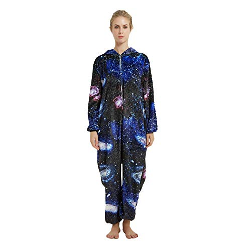 Kreative 3D Einhorn Pyjama Nachtwäsche Cosplay Kostüm Unicorn Schlafanzüge Für Erwachsene (XL, (Kreative Kostüm Für Erwachsene)