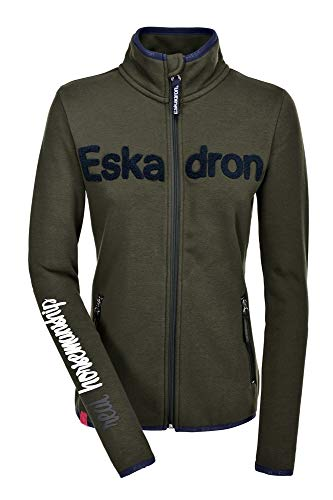 Eskadron Fanatics Damen Fleece- Zip-Shirt Nicky in Olive, Größe:XS