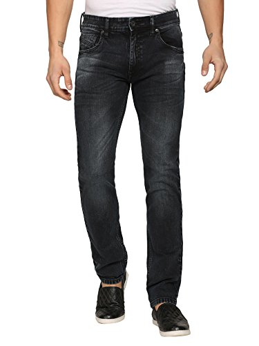 abof Men Dark Blue Slim Fit Stretchable Jeans  available at amazon for Rs.477