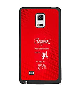 PrintDhaba Quote D-2879 Back Case Cover for SAMSUNG GALAXY NOTE 4 (Multi-Coloured)