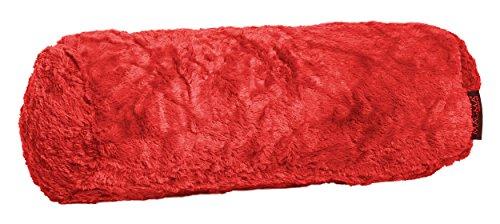 Fluffy Nackenrolle ca. 15x40 cm kuschelweicher Plüsch in Felloptik in bunter Farbauswahl 1 Stück...